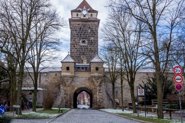 The Galen Gate into Rothenburg's Old Town.