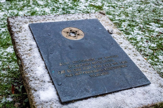 The Jewish Memorial in Rothenburg ob der Tauber, Germany.