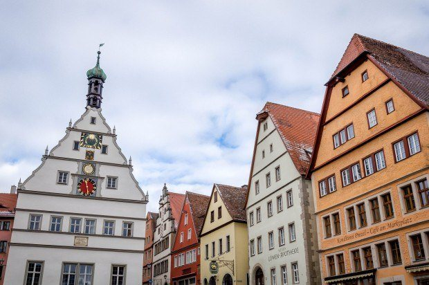The Town Clock in Rothenburg commemorates the Master Draught which spared the town.