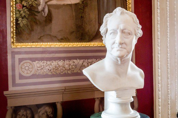 The bust of Goethe in the Royal Palace of Weimar - a UNESCO World Heritage Site.