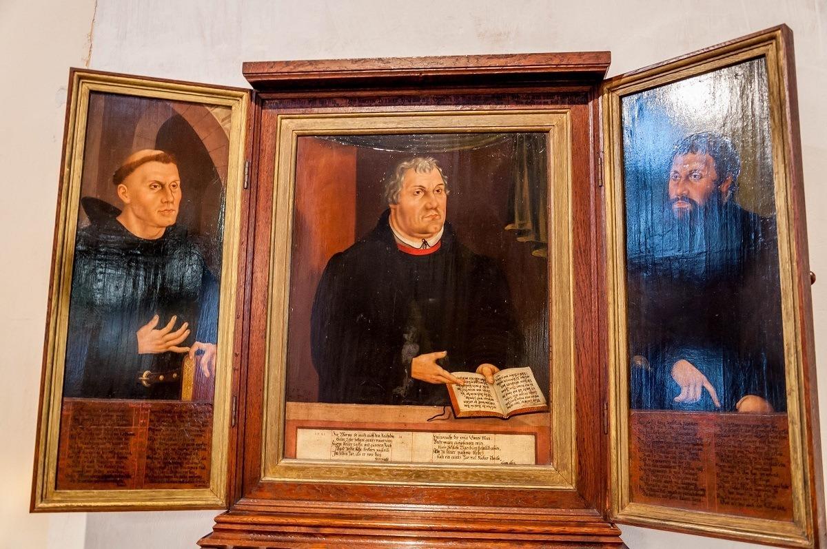 Martin Luther triptych by Lucas Cranach the Elder