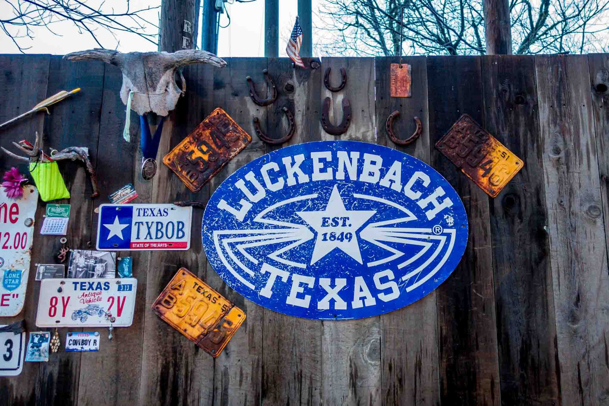 Luckenbach signs (aka Lookingback Texas)