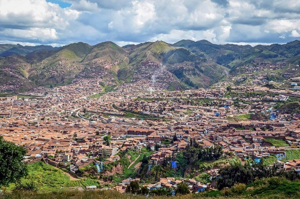 The city of Cusco, Peru, from above. It's a must visit whether you have one week in Peru or longer