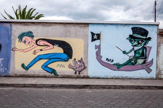 Otavalo street art murals.