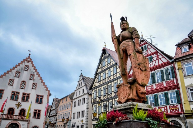 The market square in Bad Mergentheim on Germany's Romantic Road.