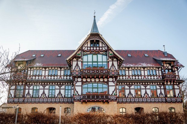 The ornate orphanage in the town of Bad Salzungen, Germany.