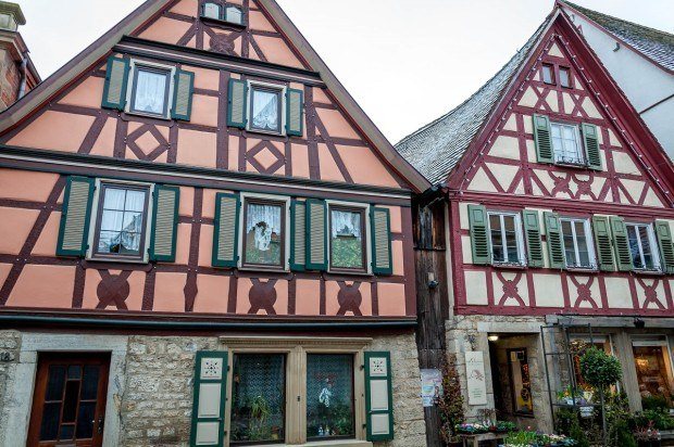 Highlights of the Germany Romantic Road:  Half-timbered houses in Creglingen, Germany.  Despite the hype, this is one of the best driving tours in Germany and is a highlight on many of the best Germany itinerary lists published by guidebooks.