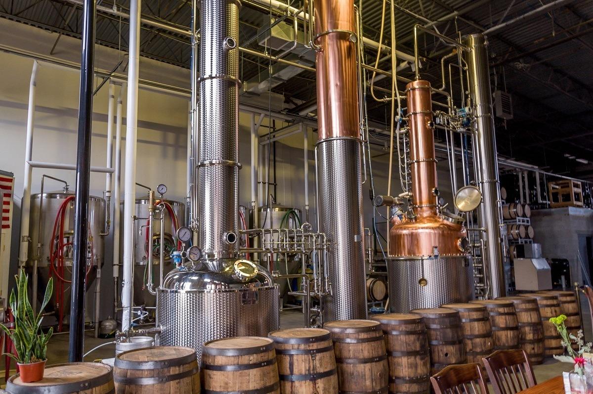 The stills at Manatawny Still Works - one of the most popular Pennsylvania distilleries.