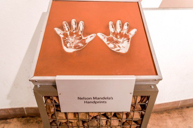 Nelson Mandela's Handprint at the Maropeng Cradle of Humankind Visitors Center.