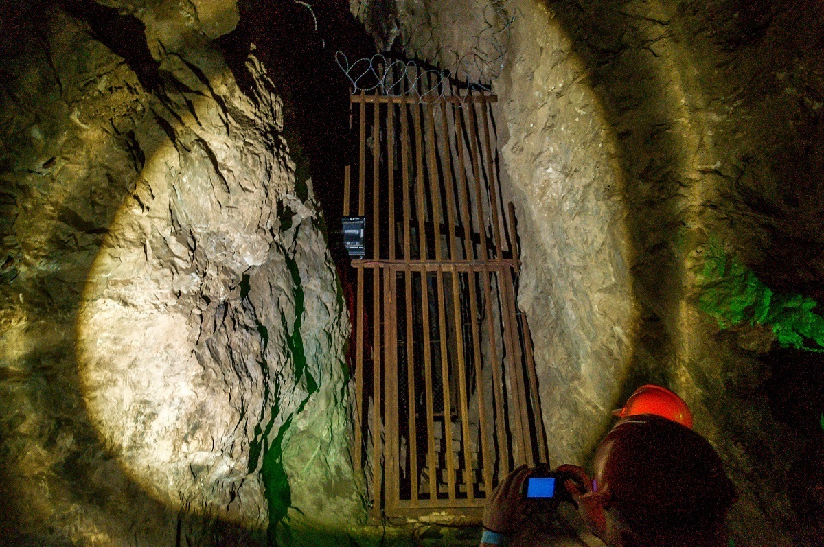 """Little Foot"" excavation site in the Sterkfontein Caves. The Cradle of Humankind caves are among the most famous caves in the world because they point to the origin of mankind."