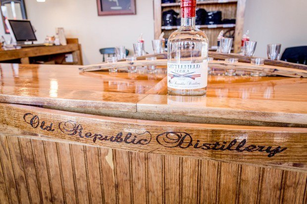 The Battlefield Vodka being sampled at the Old Republic Distillery (ORD) tasting room.  ORD is one of the oldest Pennsylvania distilleries.