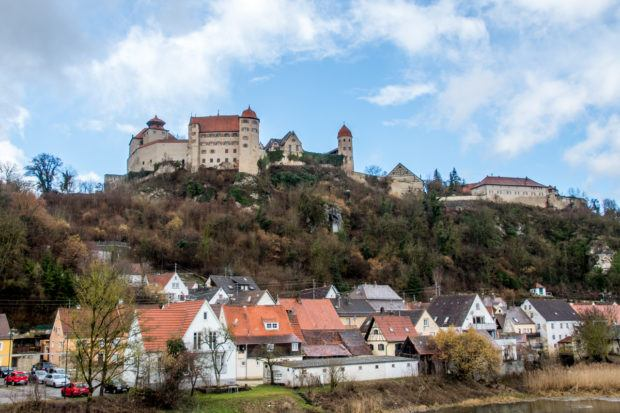 There are many famous Romantic Road landmarks, like the Harburg Castle.