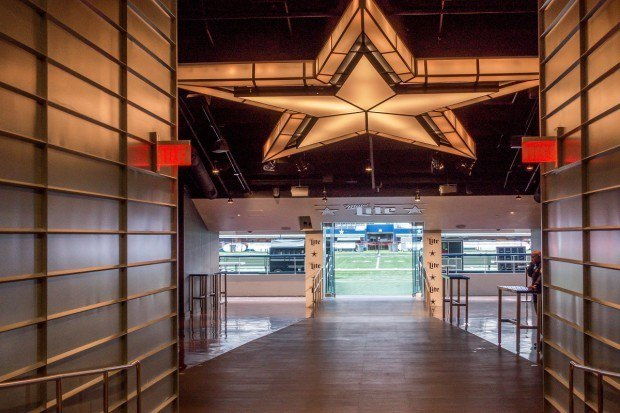 Entrance to the field as seen on a Dallas Cowboys Stadium tour