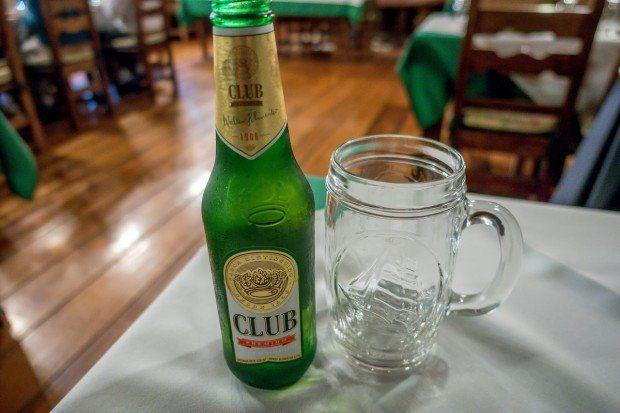 Club beer-- a refreshing Ecuador drink on a hot day.