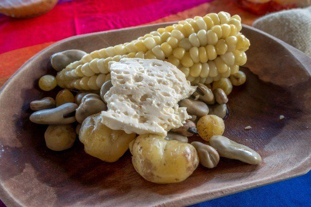 Corn, beans, and potatoes are traditional accompaniments and side dishes in Ecuador cuisine
