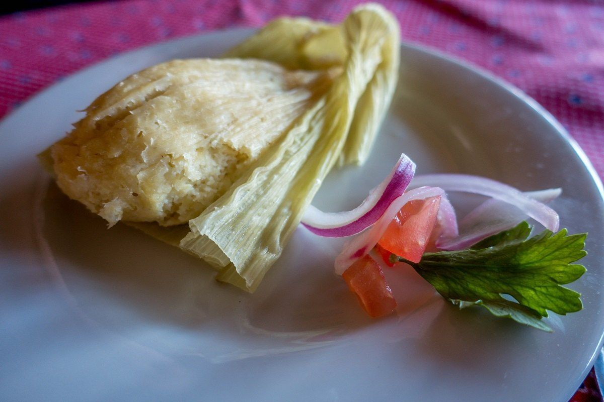 The humita - steamed masa and corn - is a pre-colonial Ecuador traditional food.