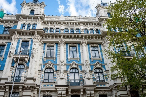 Decorative Art Nouveau building in Riga