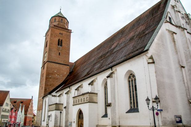 The Donauwörth Cathedral sits directly at the Romantic Road bus stop.