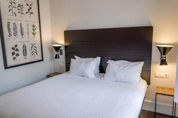 Bedroom at the Praktik Garden Hotel.
