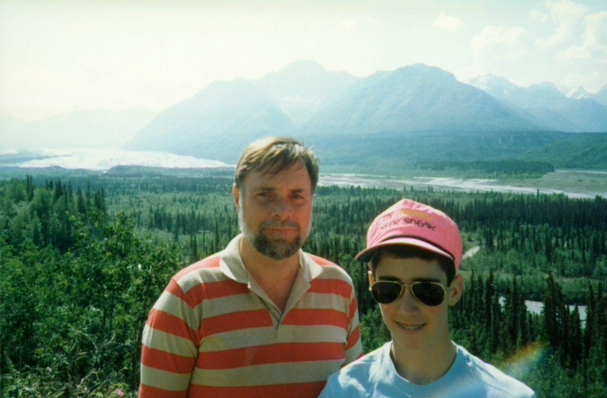 Lance and his dad in Alaska on Father's Day