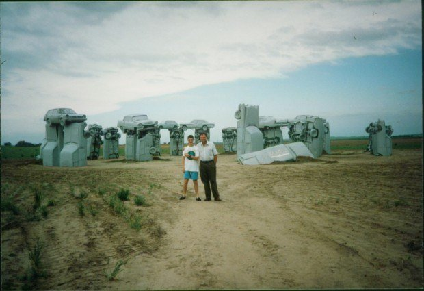 Visiting Carhenge in Alliance, Nebraska