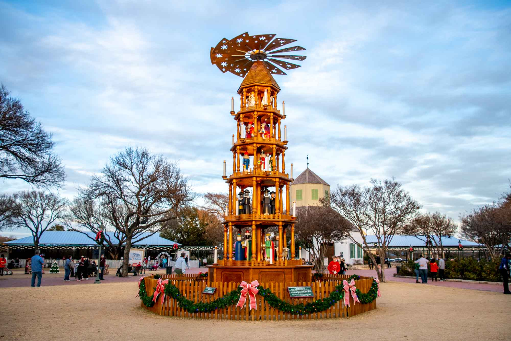 German Christmas pyramid with propeller top