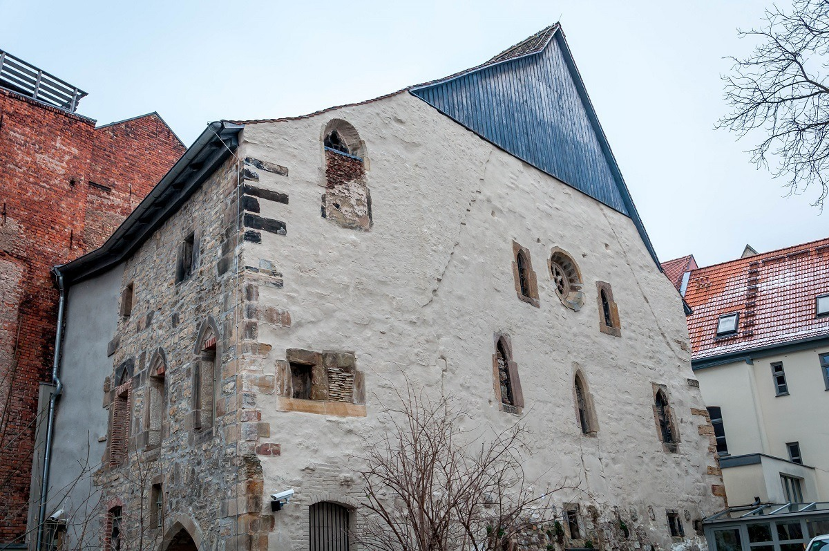 The old Erfurt synagogue was hidden behind over buildings for over 400 years.