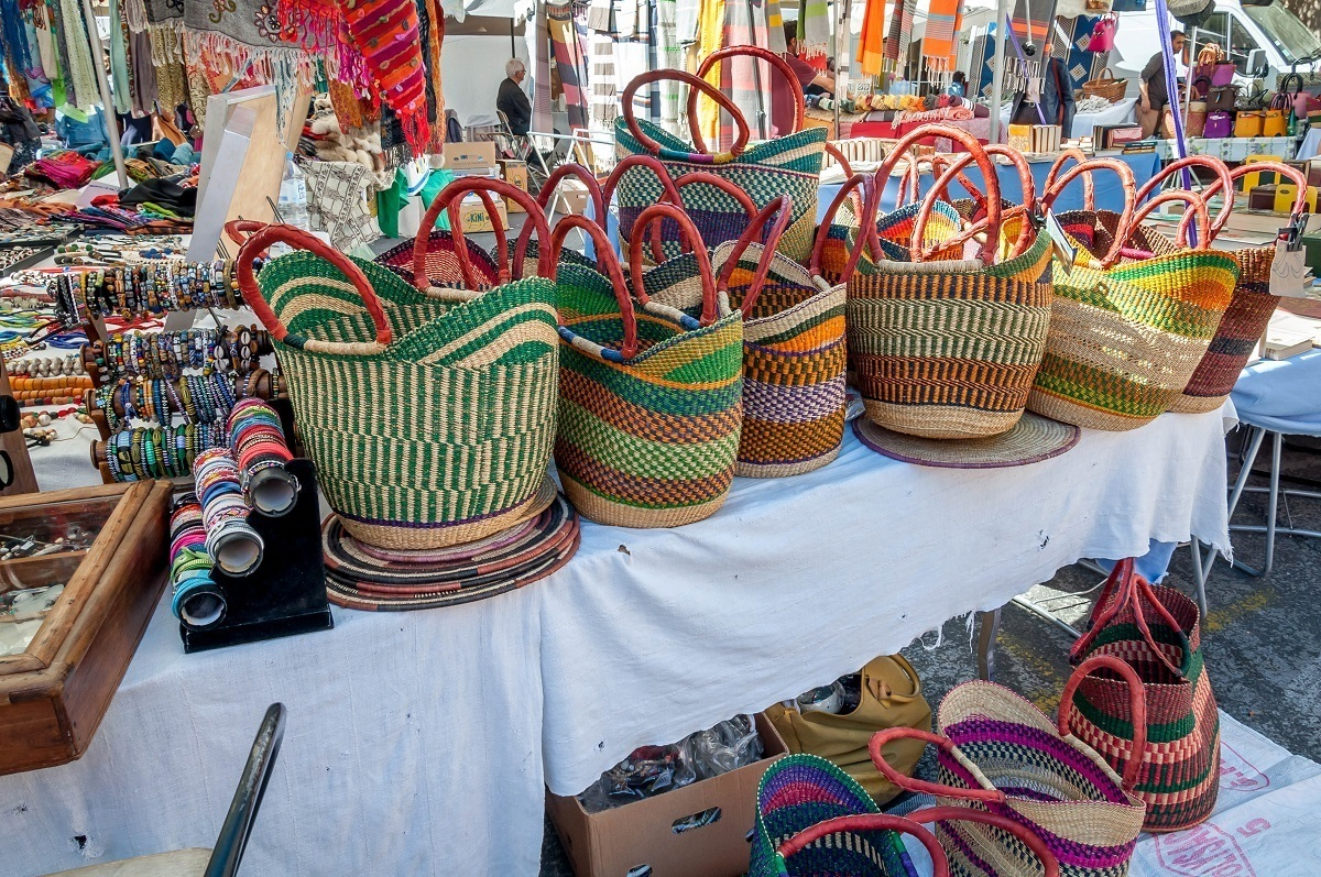 Baskets at the market in Aix-en-Provence, France