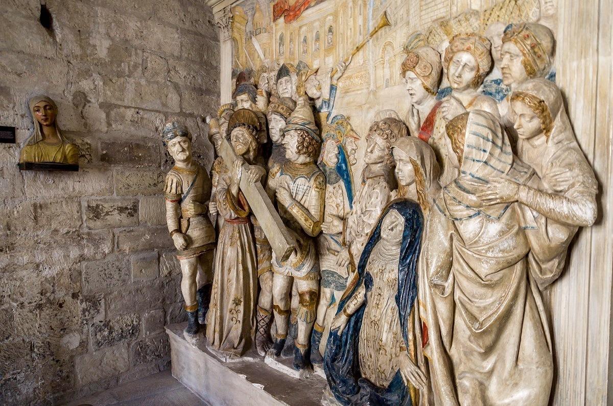 Sculptures at the Palais des Papes Avignon