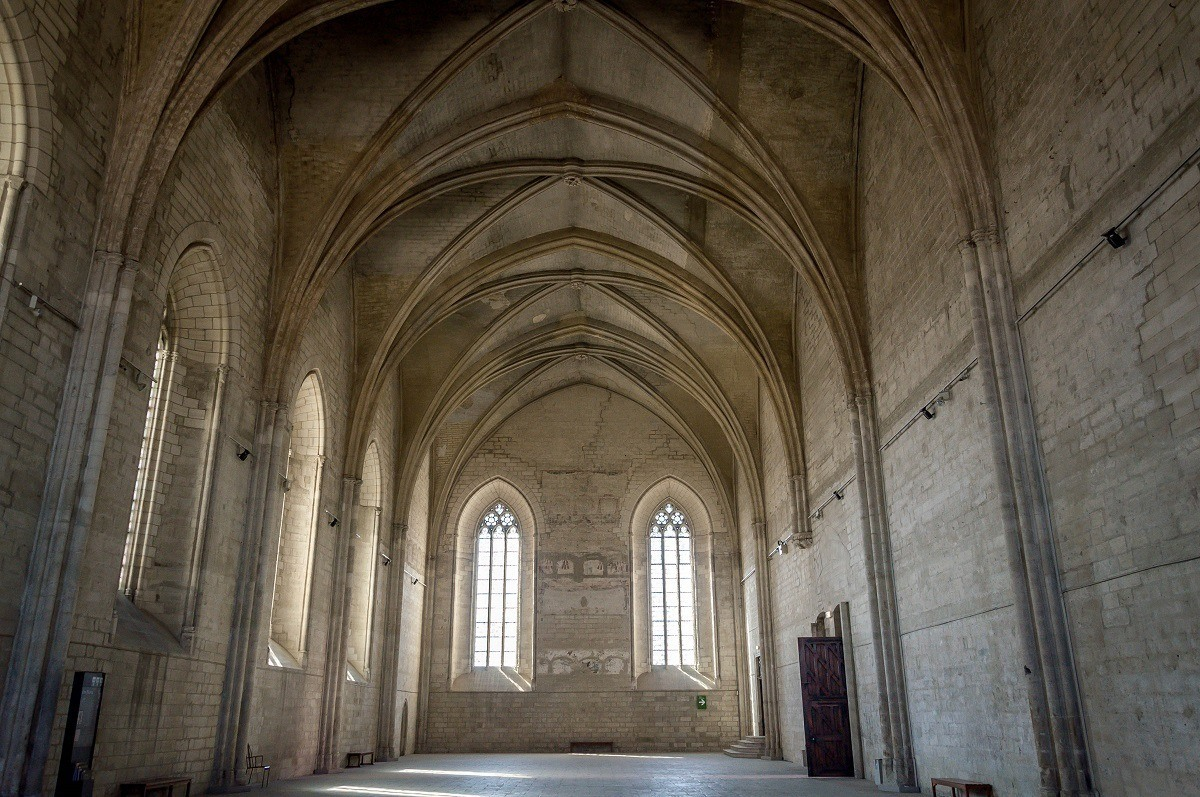 Empty Grand Chapel at the Palais des Papes in Avignon