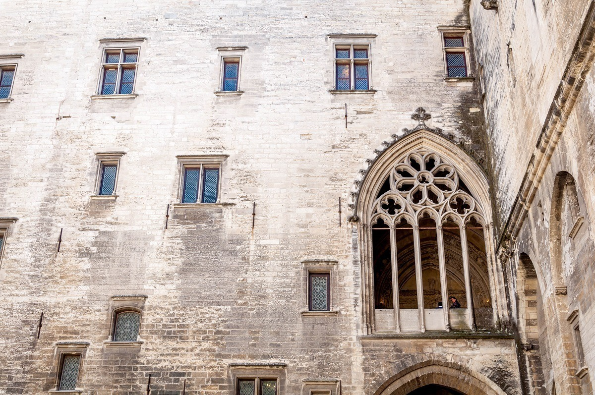 Window of indulgences at the Papal Palace in Avignon