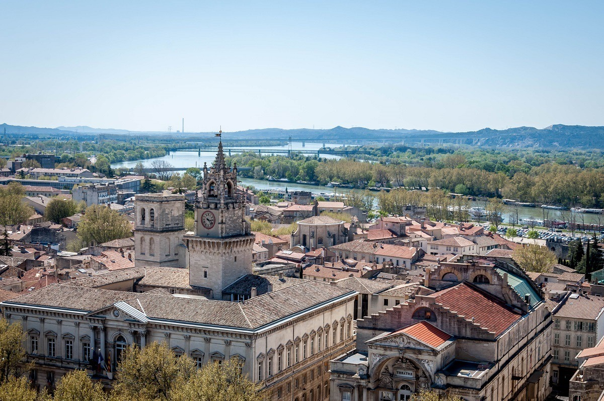 View of Avignon from the roof of the Palace of the Popes