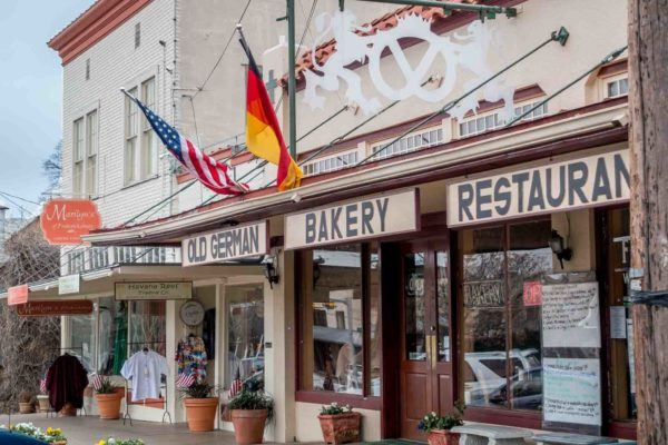German bakery on Main Street in Fredericksburg TX