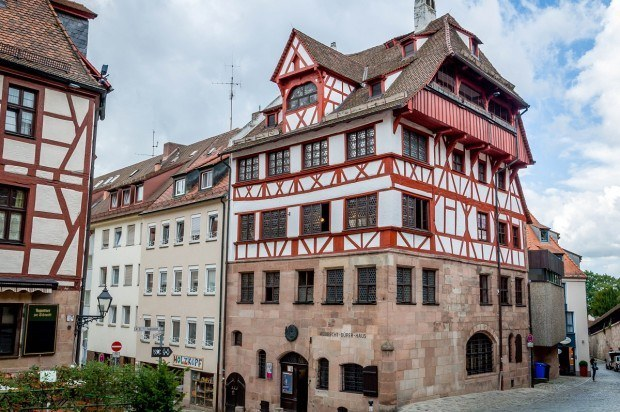 Photo of the Albrecht Durer House in Nuremberg, Germany.