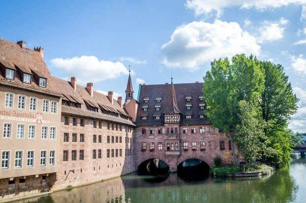 Favorite Nuremberg Photos:  The Heilig Geist Spital (the hospice) on the Pegnitz River.