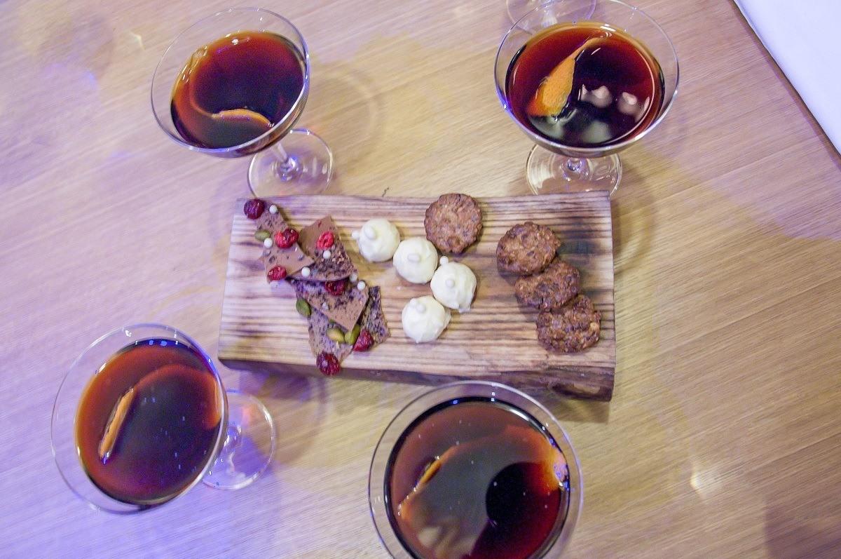 Black Balsam cocktails and snacks