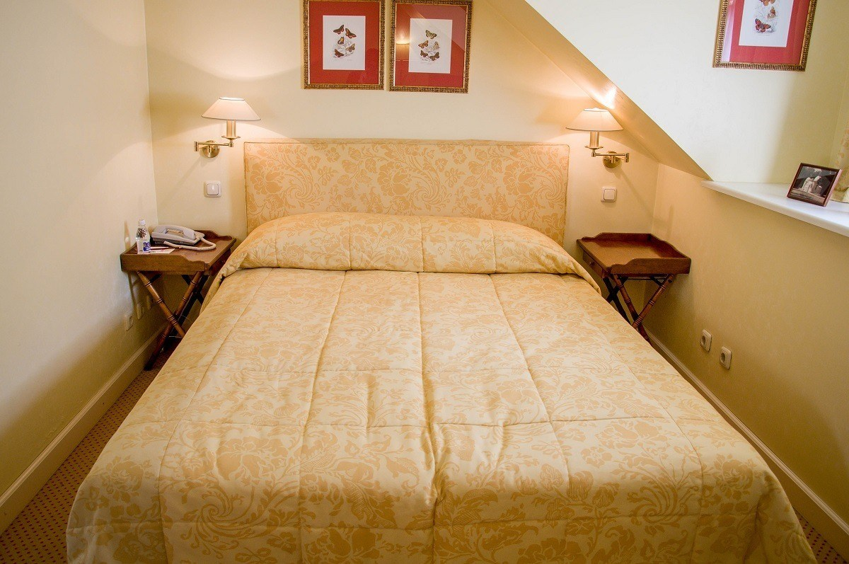 The rooms at the Stikliai in Vilnius, Lithuania, are super comfortable