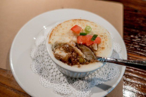 Shepherd's pie at Garyowen Irish Pub, one of the tasty Gettysburg foods we tried