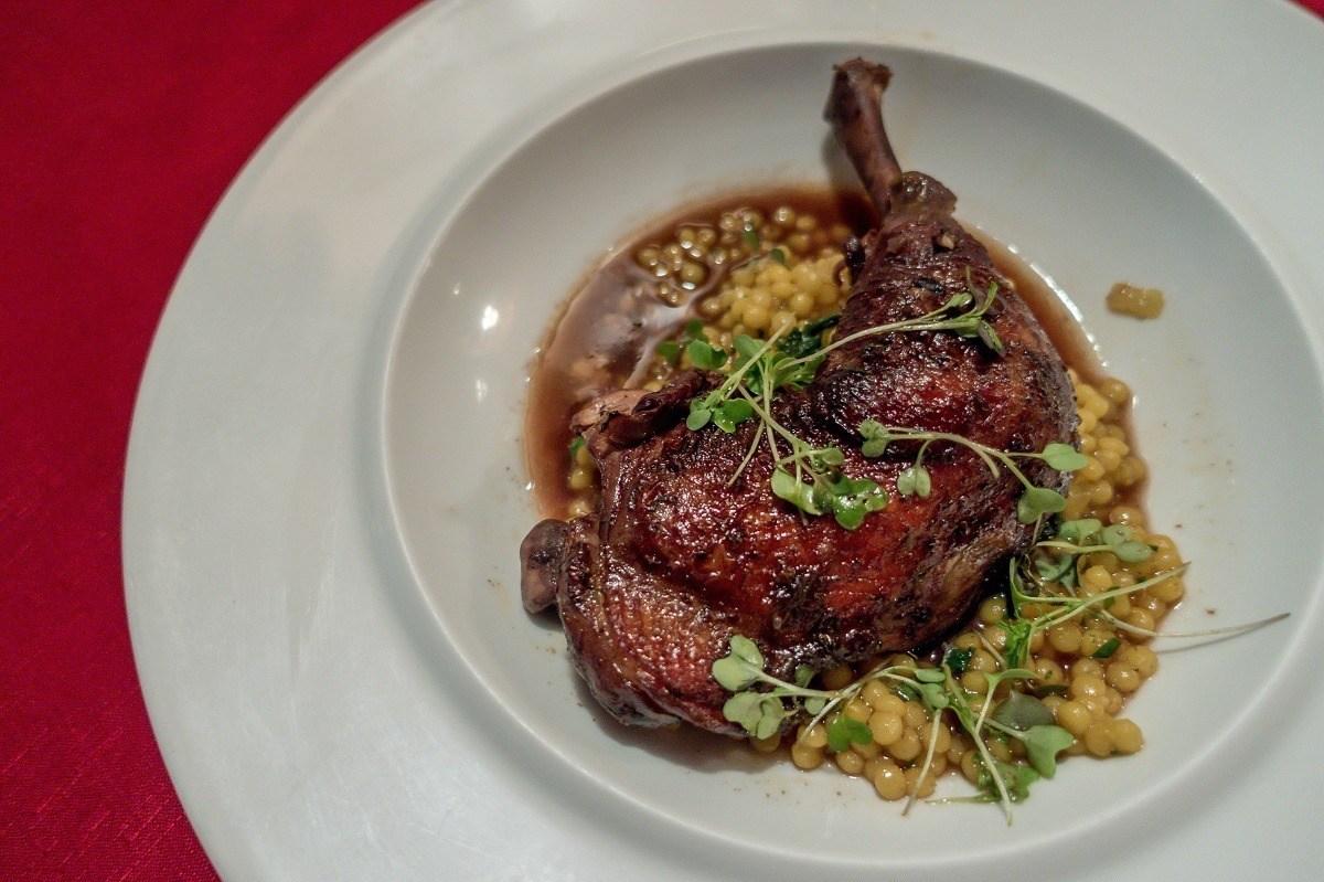 Chicken dish on plate