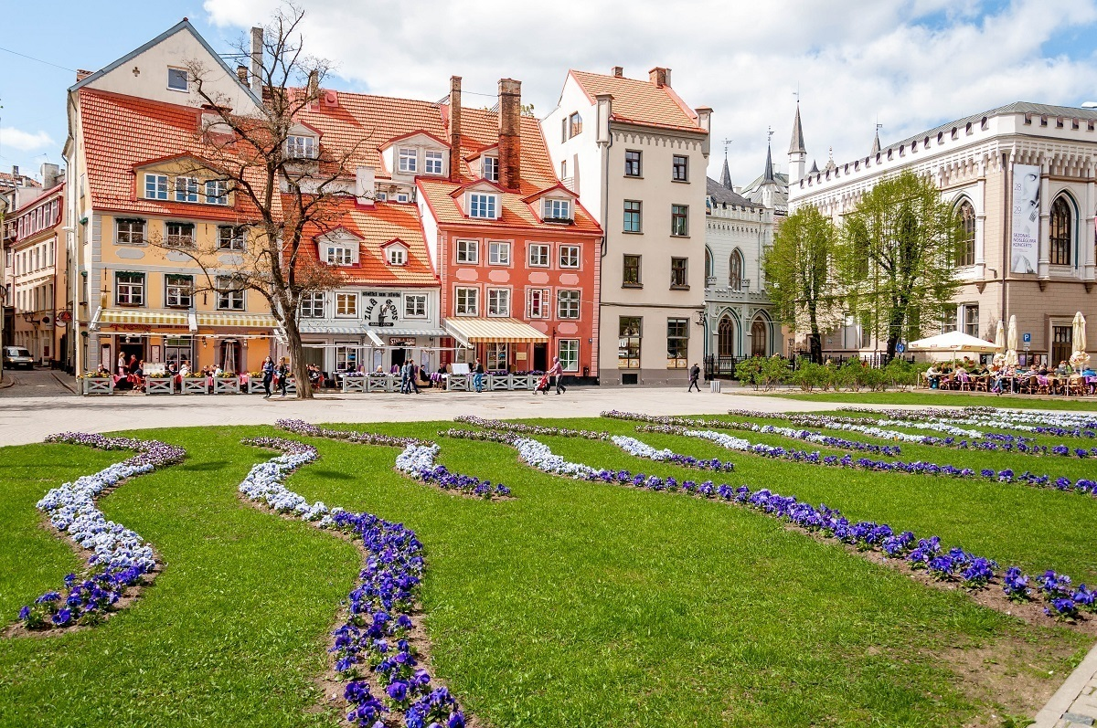 Livu Square is one of the pretty places to see in Riga Latvia