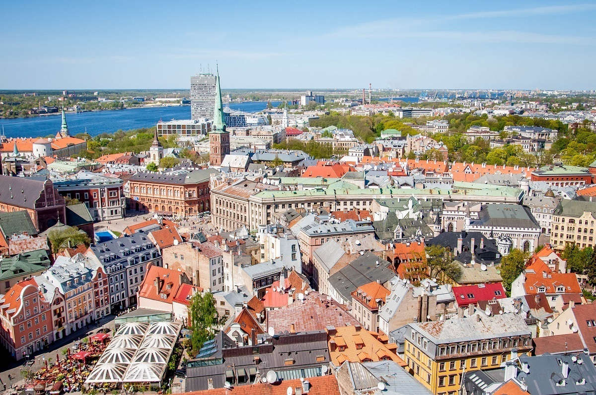 Old Town Riga Latvia skyline – seeing it is one of the best things to do in Riga Latvia