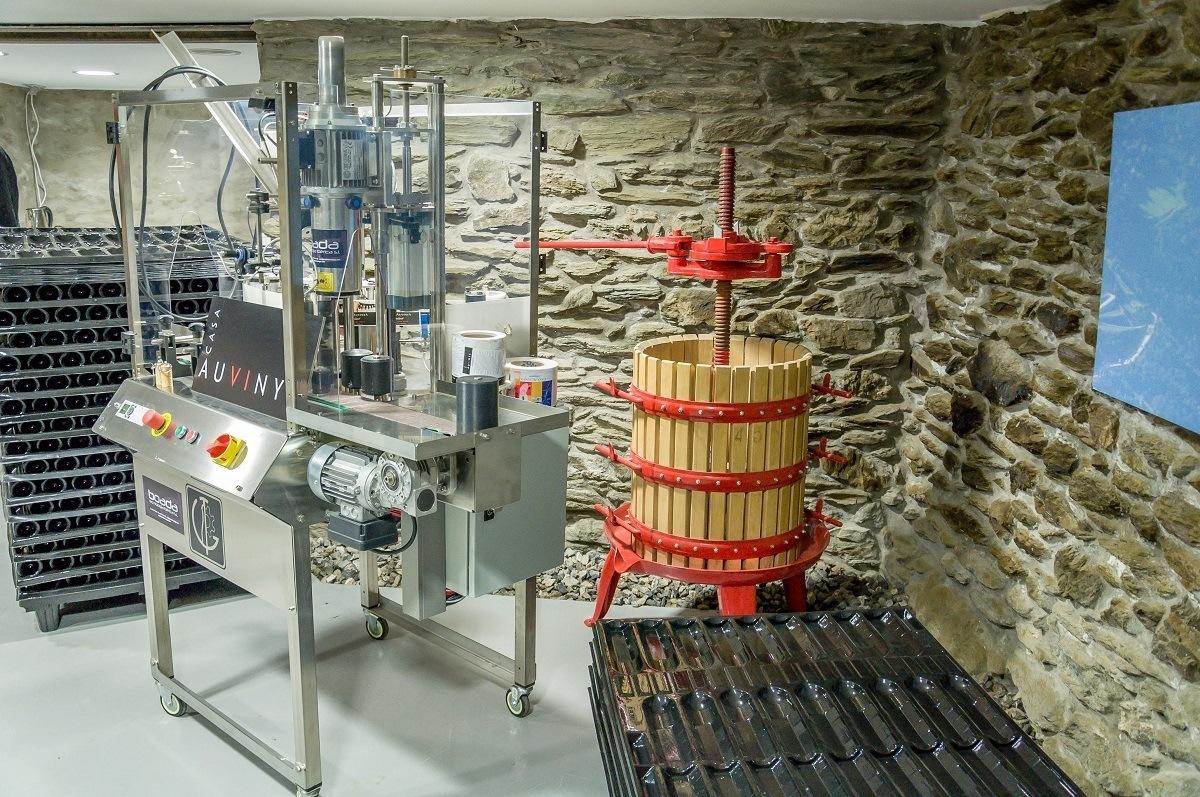 Wine production equipment