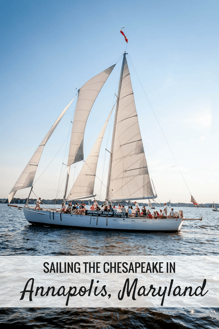 Sailing on the Chesapeake Bay is a fun thing to do on a visit to Annapolis. Maryland. Some companies offer daytime and sunset cruises as well as participation in the Wednesday night boat races.