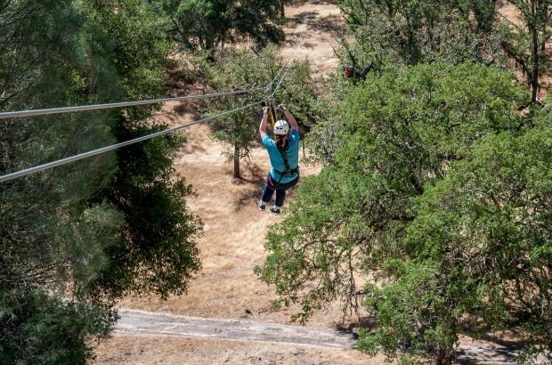 Laura on the Santa Margarita zip line in Paso Robles, California.