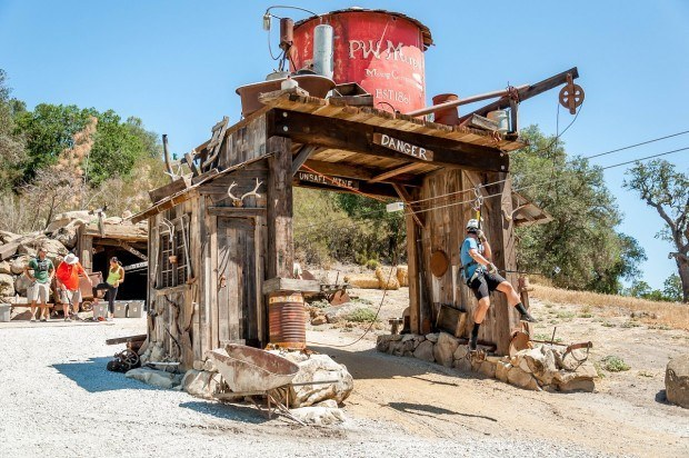 "The ""mining town"" at Margarita Adventures in Paso Robles."