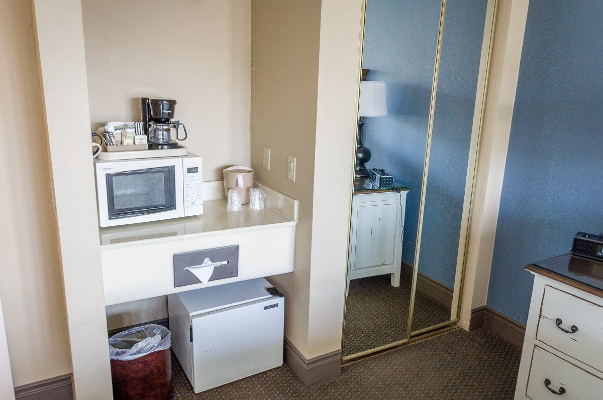 Each room at the Sand Pebbles Inn has a mini-refrigerator, microwave and a coffee maker