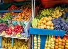 Fruit stand in Ecuador's Otavalo market.