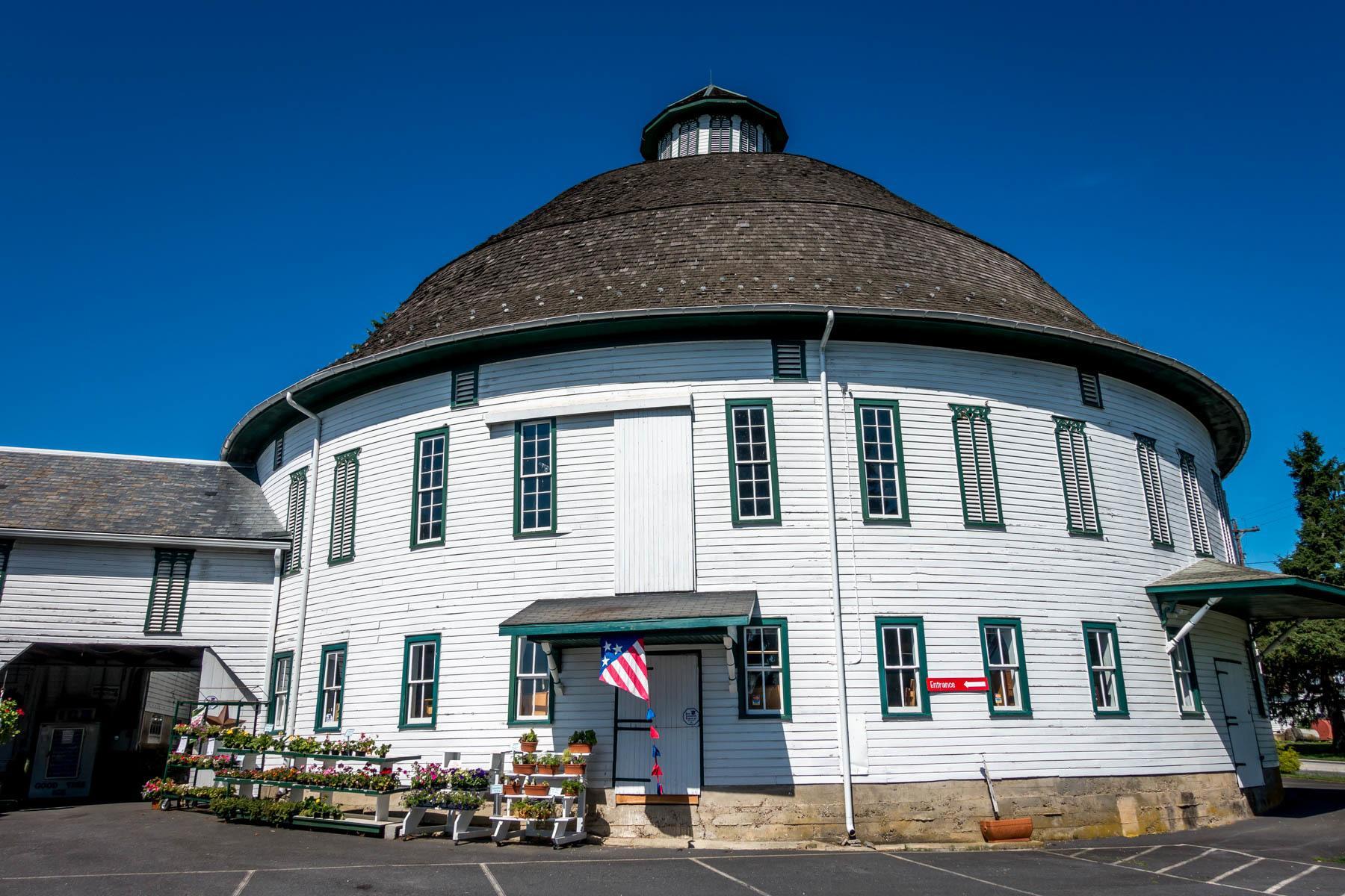 White Round Barn in Gettysburg PA