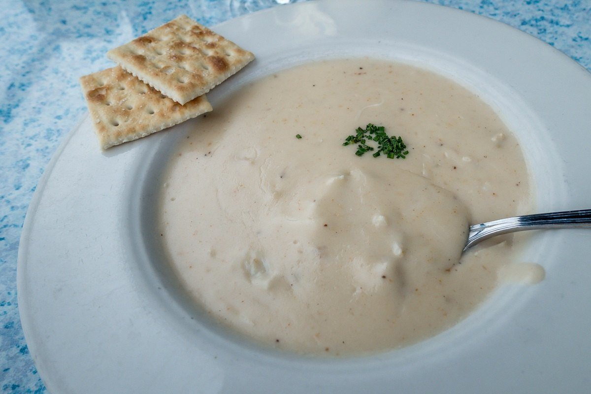 Cream of crab soup at Carrol's Creek Cafe in Annapolis