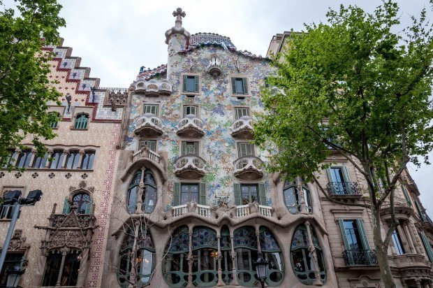 Antoni Gaudi's Casa Batllo in Barcelona.